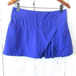 Athleta Sneaky Pleats Skort Skirt Shorts